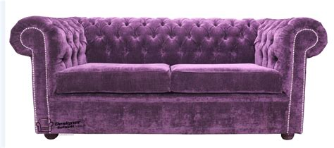 purple settee chesterfield sofabed 2 seater velvet sofa bed velluto