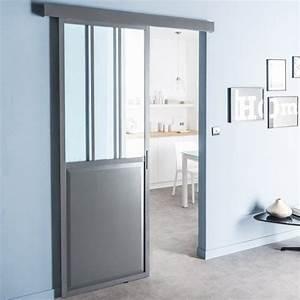 ou trouver une porte coulissante atelier style verriere With porte d entrée alu avec applique 12v salle de bain