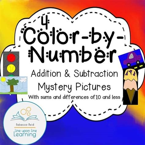 color  number addition  subtraction mystery