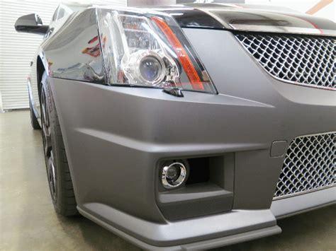 dark grey matte vinyl wrap   cadillac ctsv