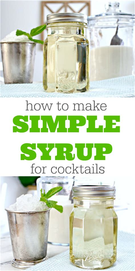 how to make simple syrup how to make simple syrup for cocktails and a mint julep recipe