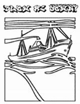 Ship Pirate Pages Coloring Print Sailing Wood Seas sketch template