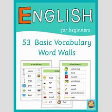 Esl, Word Walls And English Words On Pinterest