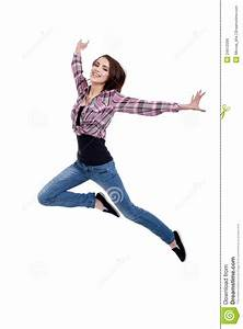 Happy Teen Girl Jumping Royalty Free Stock Image - Image ...