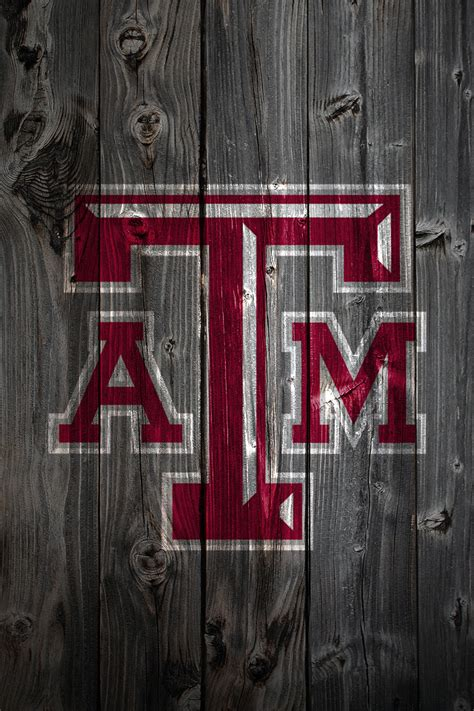 Ohio State Football Logo Wallpaper Texas A M Aggies Wood Iphone 4 Background Texas A M Aggies Flickr