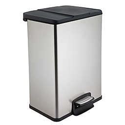 Trash Can 9 Inches Wide by Trash Cans Garbage Cans Trash Bins Bed Bath Beyond