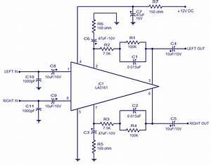 La3161 Stereo Preamplifier Circuit