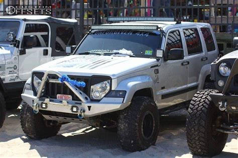 lifted jeep liberty 2009 jeep liberty fuel anza jba suspension lift 45in
