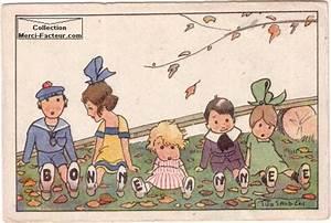 Carte Nouvelle Année : dessins de cartes postales anciennes de voeux merci facteur ~ Dallasstarsshop.com Idées de Décoration