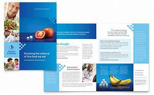 dietitian brochure template design With product brochure template word