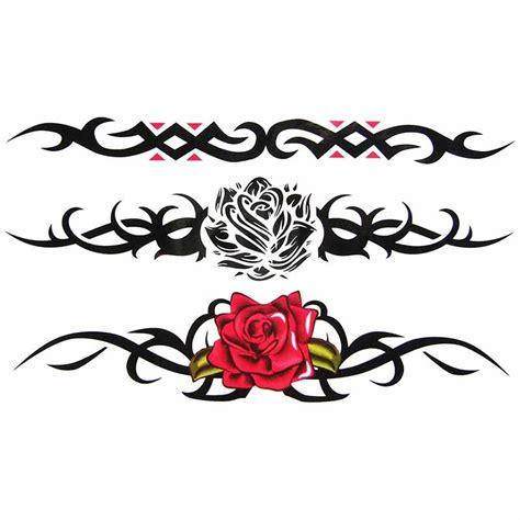 Tatouage Temporaire Rose Tribal Tempotattoo