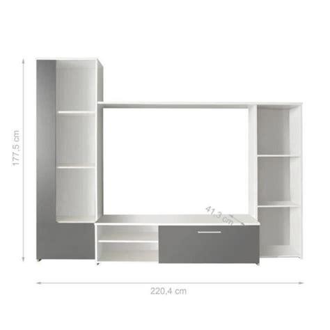 desserte de cuisine pas cher finlandek meuble tv mural pilvi 220cm blanc et gris