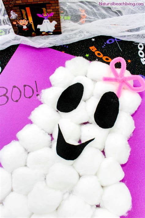 cotton ghost craft for and easy cotton ghost craft for preschoolers 7525