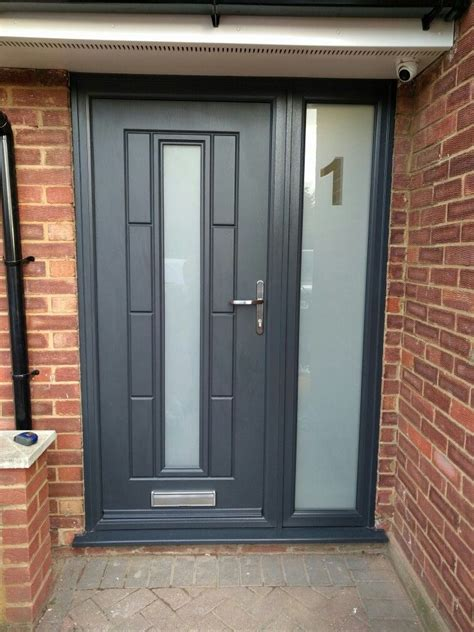 Living Room External Doors by Grey Composite Rockdoor With Ected Number In The Side