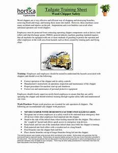Tailgate Training Sheet