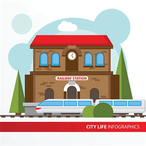 Station Clipart Railway Station Clipart Pencil And In Color Railway