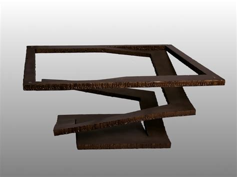 site de canapé paire de tables basses en acier déchiré 1970