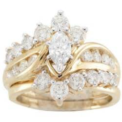 overstock wedding ring sets 14k yellow gold 2ct tdw bridal ring set free shipping today overstock 13115856