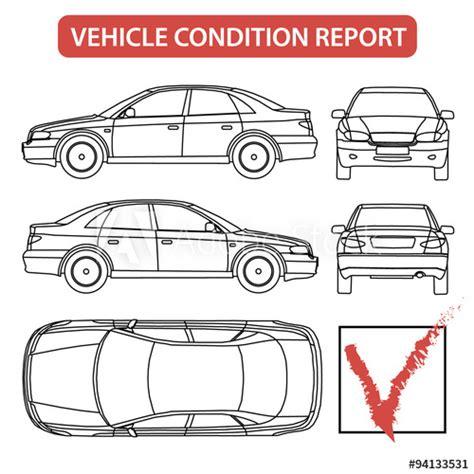 Vehicle Condition Report (car Checklist, Auto Damage