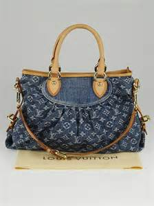 louis vuitton blue denim monogram denim neo cabby mm bag