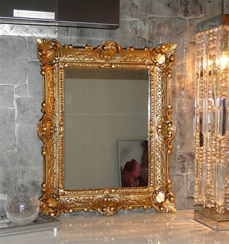 Antique Bathroom Mirror by Wall Mirror Gold Antique Baroque Bathroom Floor Vanity