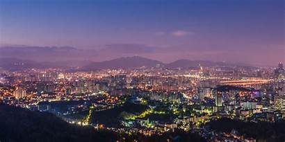 Seoul Wallpapers Night Korea South Backgrounds Capital