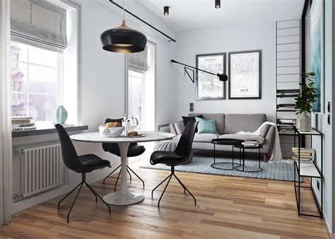 5 Contrasting Small Apartment Designs by 5 Beautiful Studio Apartments