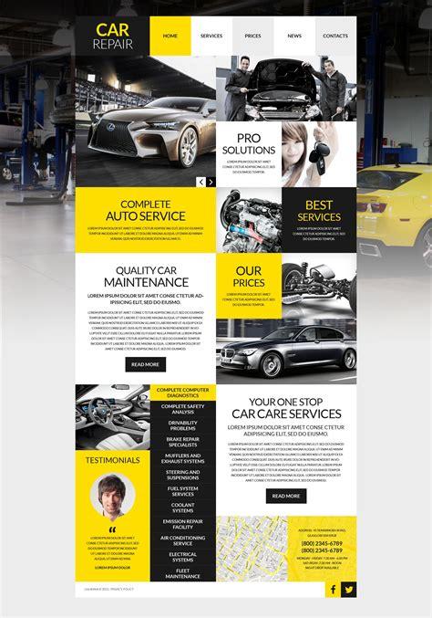 airport template free web car repair template