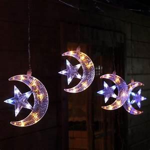 Weihnachtsbeleuchtung Innen Fenster : lichterkette f r weihnachten mit 5 halbmonden und stern ~ A.2002-acura-tl-radio.info Haus und Dekorationen