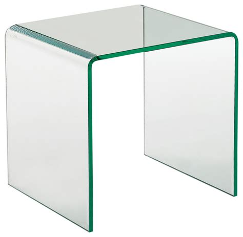bent glass end table creative images international bent glass end table