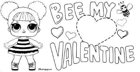 queen bee lol doll valentine coloring page lol surprise