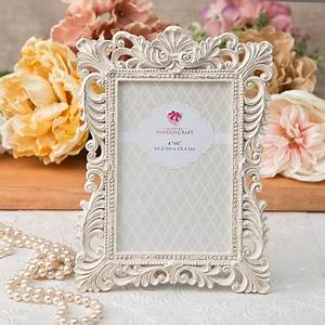 antique ivory photo frame with brushed gold leaf antique With wedding favor picture frames 4x6