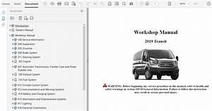 2019 Ford Transit Repair Manual