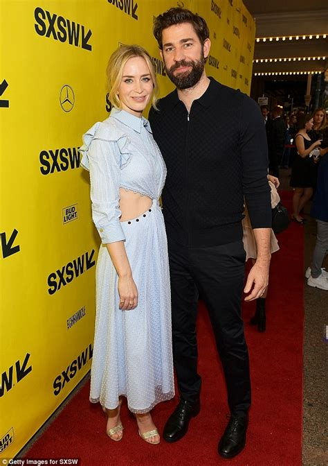 They were dating for 9 months after. Emily Blunt and John Krasinski premiere new film at SXSW