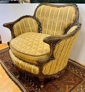 Antique, Carved, Wood, Reading, Chair, Armchair, At, 1stdibs