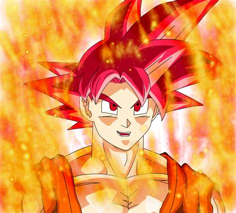 Goku Ssj good Flame aurora by Jared by jaredsongohan on