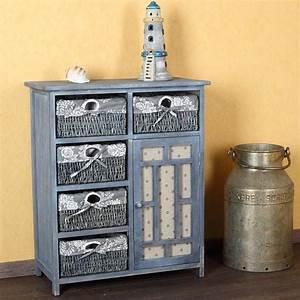Kommode Grau Vintage : kommode schrank vintage inkl 5 k rbe grau ~ Michelbontemps.com Haus und Dekorationen