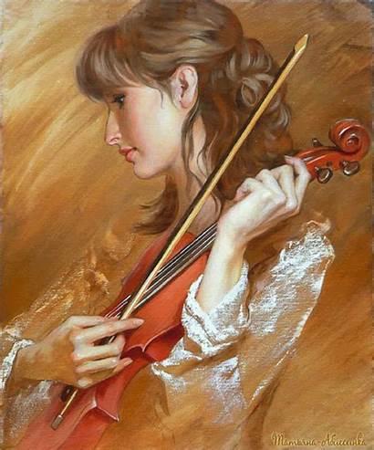 Andrei Violonistes Musikgifs Violoniste Markin Painting Belichenko