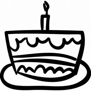 Birthday cake hand drawn celebration food - Free food icons