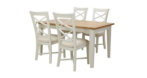 shore small rectangular extending table set of 4