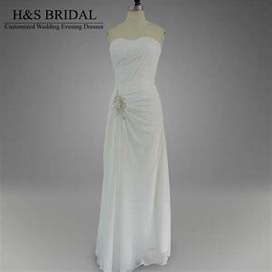 real model summer beach bridal dress long chiffon white With cheap summer wedding dresses