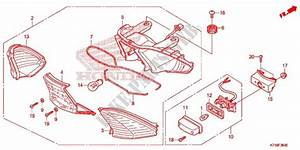Taillight  2  For Honda Wave 110 Alpha R  Front Disk