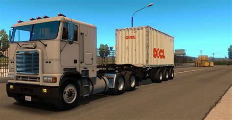 container ft  axles trailer american truck simulator