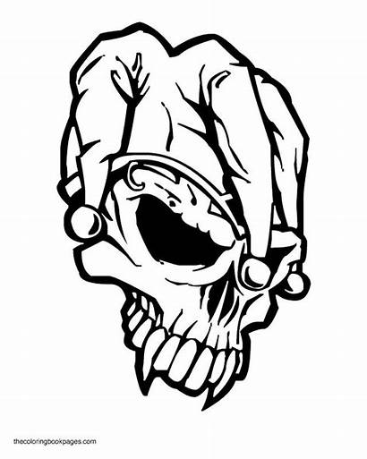 Coloring Pages Printable Skull Skulls Adult Colouring