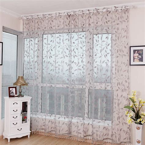 sheer curtains with leaf pattern curtain quality