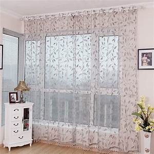 Sheer curtains with leaf pattern curtain quality for Sheer curtains with patterns