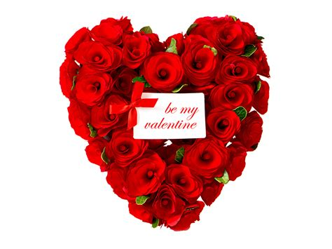 Wallpaper Valentine's Day Heart Red rose flower Holidays