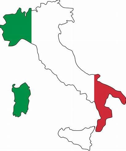 Italy Map Flag Italian Agency European Space