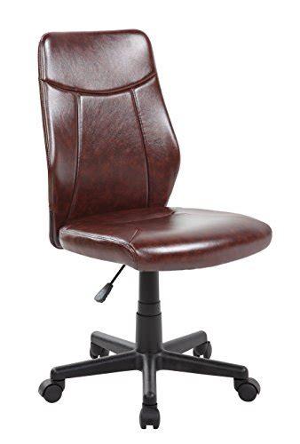 kerland ergonomic pu leather mid back armless swivel