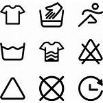 Washing Icons Clipart Laundry Instructions Clothesline Clip